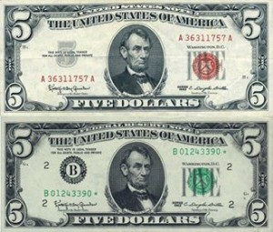 "What got President John F. Kennedy murdered? Notice the top bill (newly printed courtesy of JFK in 1963), reads (on the very top) ""United States Note"", while the bottom bill reads ""Federal Reserve Note"" (as bills still read today).  On June 4, 1963, a virtually unknown Presidential decree, Executive Order 11110, was signed with the authority to basically strip the Federal Reserve Bank of its power to loan money to the United States Federal Government at interest. With the stroke of a pen, President Kennedy declared that the privately owned (and thus ILLEGALLY placed in control of our currency, 100 years ago) Federal Reserve Bank would soon be out of business."