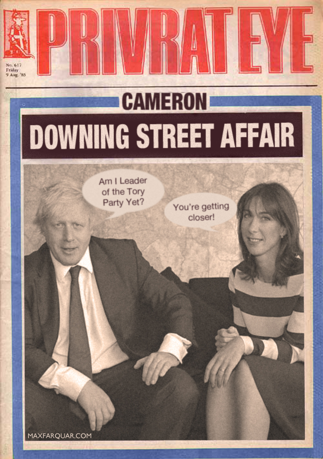 Downing Street Affair Andy Coulson Rebekah Brooks Wade David Cameron Boris Johnson Samantha Cameron info scandal crisis talks names funny photo leak
