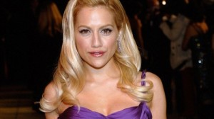 Brittany Murphy arrives at the Vanity Fair Oscar Party in West Hollywood