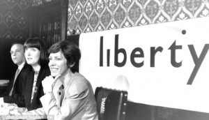 Political: Harriet Harman (centre) and Patricia Hewitt ( to her right), at a press conference held by the National Council for Civil Liberties in 1990