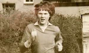 ANGRY Andrew Ash pictured at 14 claims he was abused by two MPs in London in the 1980s