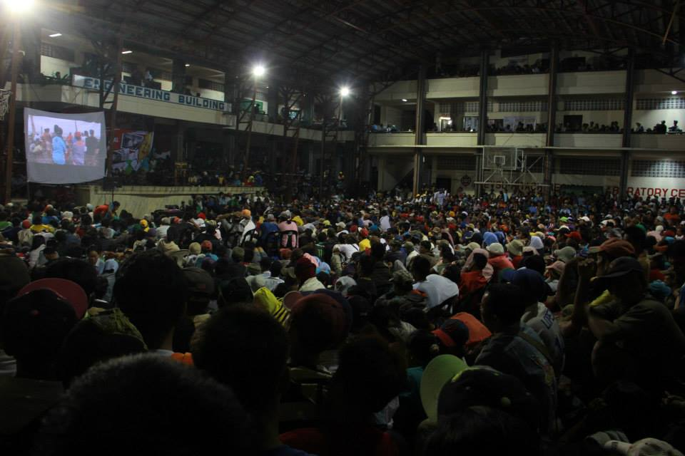 'People Surge' protest gathering in a public university in Leyte. Photo from Tudla