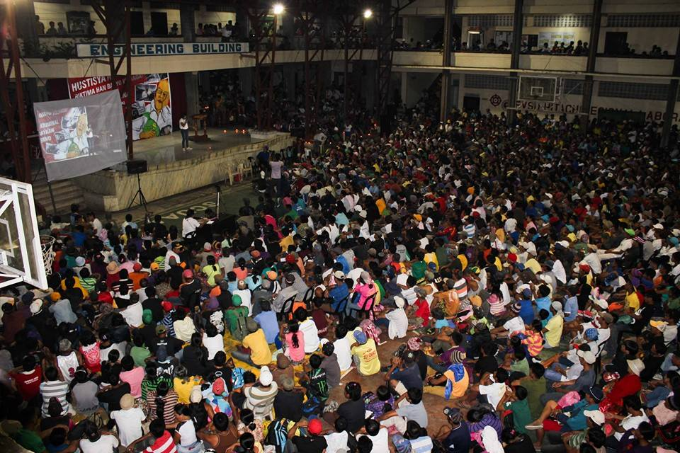 'People Surge' assembly in Tacloban. Photo from Tudla