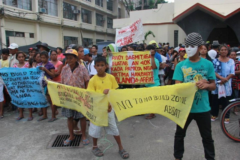 Residents, both young and old, are calling for the scrapping of the 'No Build Zone' policy. Photo from Tudla.