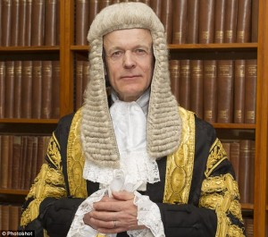Implicated: Lord Justice Fulford, pictured in his full legal regalia, was named last year as an adviser to the Queen