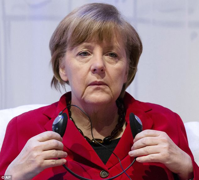 German Chancellor Angela Merkel was said to be slightly out of her depth during the video games because she was without her usual advisers