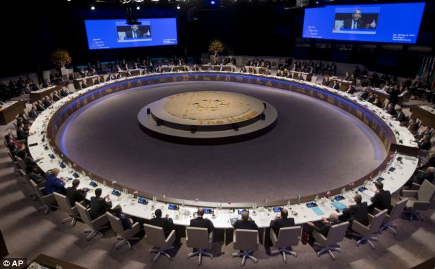 Obama and Cameron were joined by other world leaders for the Nuclear Security Summit yesterday