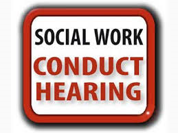 Social Workers Conduct Hearing