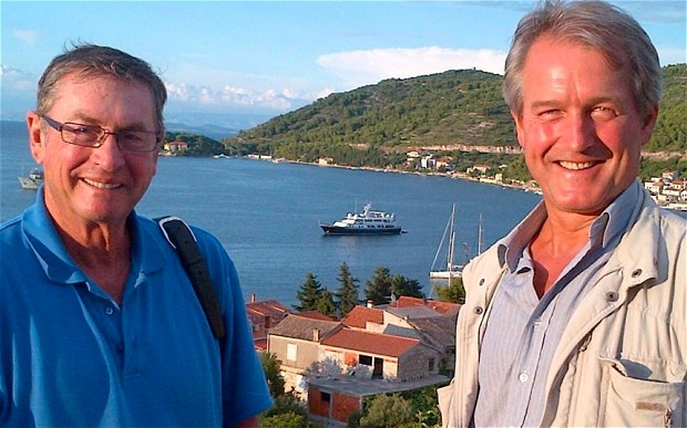 Lord Ashcroft on holiday with Owen Patterson in Croatia