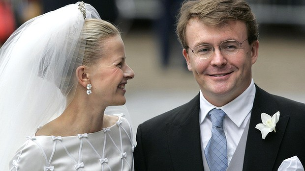 Dutch Prince Johan Friso and his bride Mabel Wisse Smit on their wedding day in 2004.
