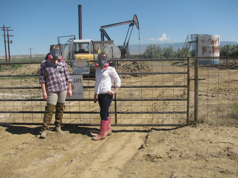 Women at drill site