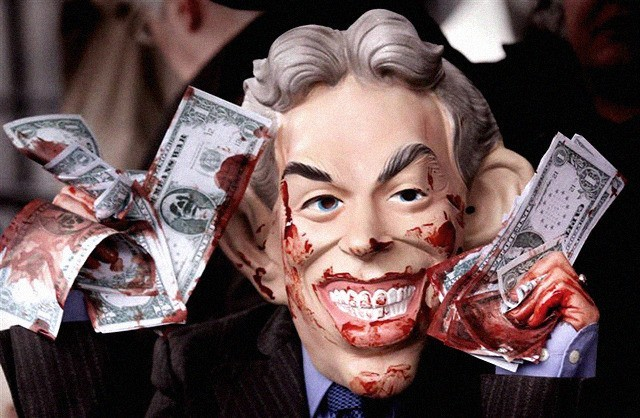 Tony Blair making a killing off killing
