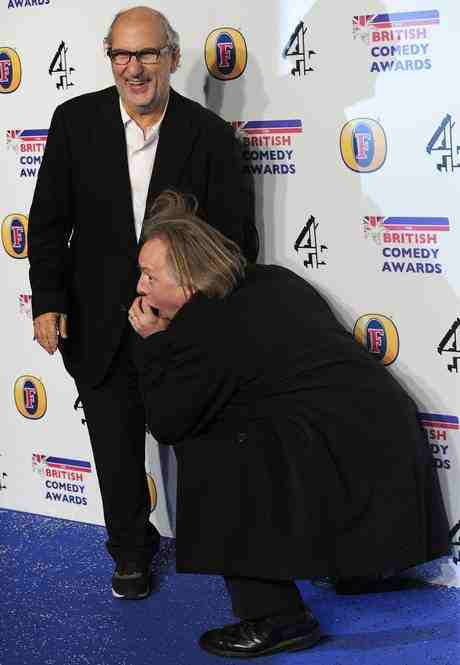 Alan Yentob and Rik Mayall