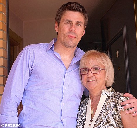 Reunited: Randy Ryder with Manoli Pagador, who believes she may be his real mother