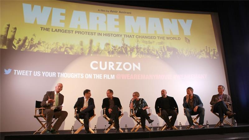Amirani and others attend a special screening of We Are Many at The Curzon Mayfair in London [Getty]