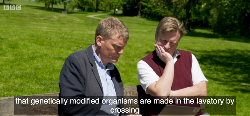 genetically modified organisms are made in the lavatory according to the BBC