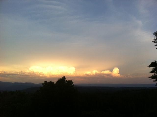 illuminated cloud