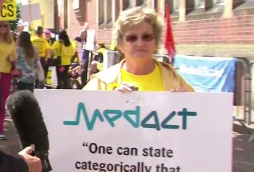 medact protester