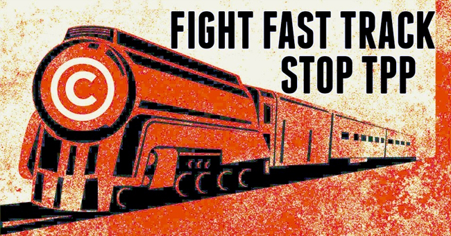 The House on Friday kicked the can further down the road on Fast Track. Credit: Electric Frontier Foundation