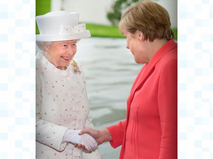 The Queen met German Chancellor Angela Merkel
