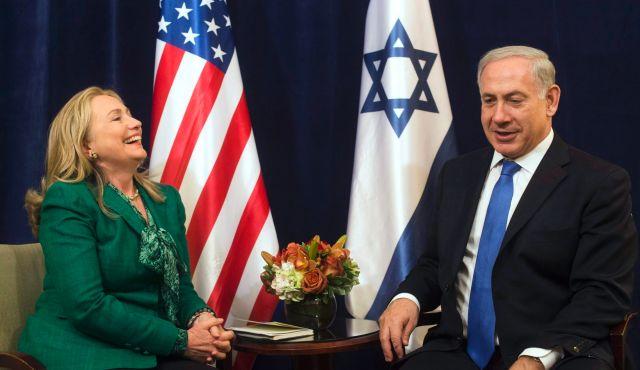 Hillary Clinton and Benjamin Netanyahu