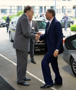 NATO Deputy Secretary General, Alexander Vershbow welcomes the Prime Minister of Tunisia, Habib Essid