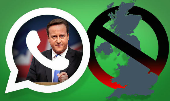 WhatsApp could be BANNED in the UK within weeks under David Cameron's Snoopers' Charter plans