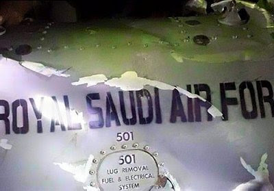 Newly painted RSAF stencil on downed Israeli F-16