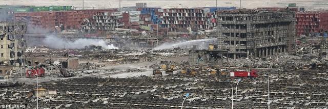 Massive devastation over a wide area.