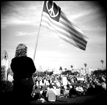 An antiwar rally in San Francisco, CA, October, 2007.