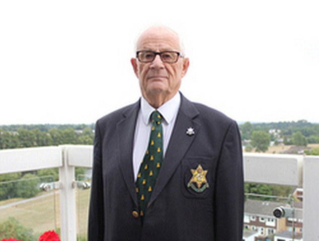 Sergeant Vic Knibb (pictured), 90, who served in Burma with the Royal West Kent Regiment in 1945, said that security procedures were the tightest he could remember for any VJ ceremony