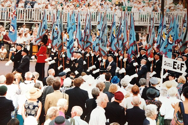 Mr Marsh, who attended the 1995 ceremony (pictured), said:'It makes my family concerned for me – they wouldn't want me to go if I was in danger'