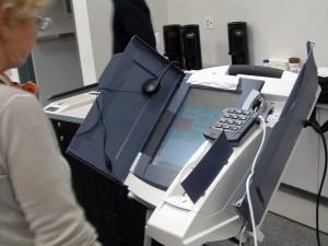Voting machine, via Wikimedia Commons