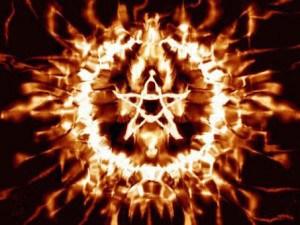 Pentagram Satanic Occult Fire