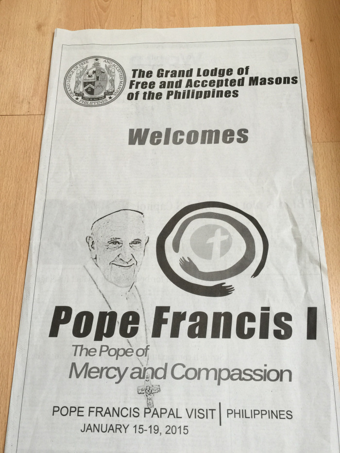 freemasons welcome pope francis