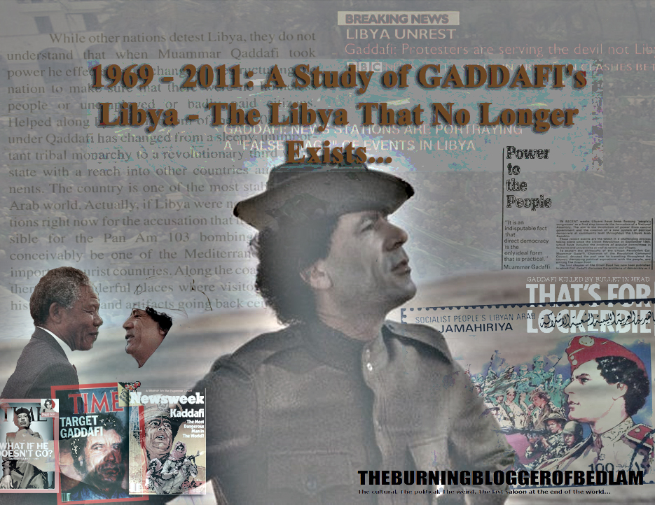 Photo of gaddafi on the front of todays Sun newspaper?