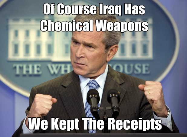 iraq bush WMD receipts