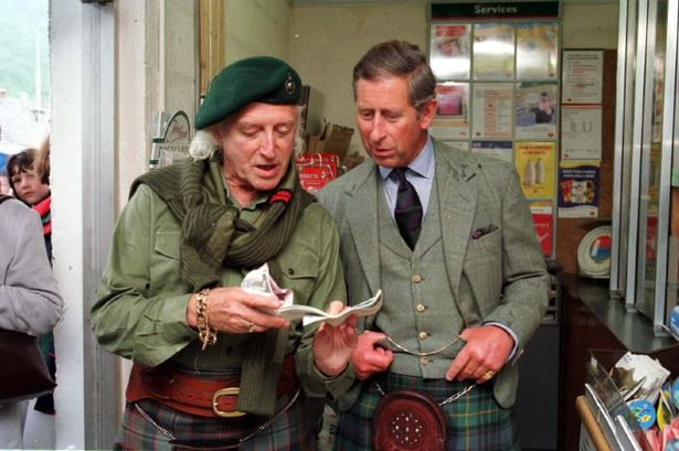 vip-Sir Jimmy Savile and Prince Charles
