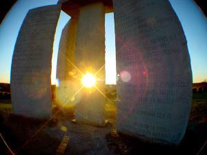 georgia guidestones sun
