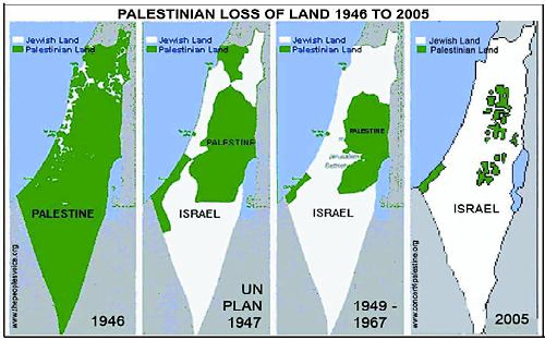 Palestine being wiped off the Map by brutal Israeli occupation and ethnic cleansing.