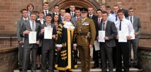 future-soldiers-receive-their-certificates-from-the-lord-mayor-coun-keiran-mulhall-and-major-robin-bath-196445633