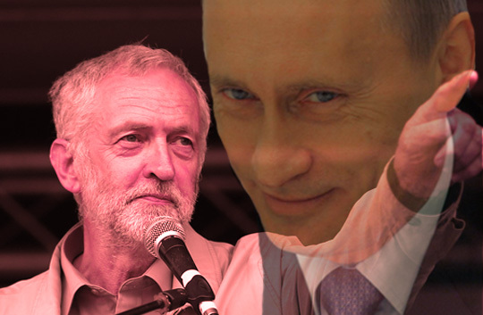 Image result for putin corbyn