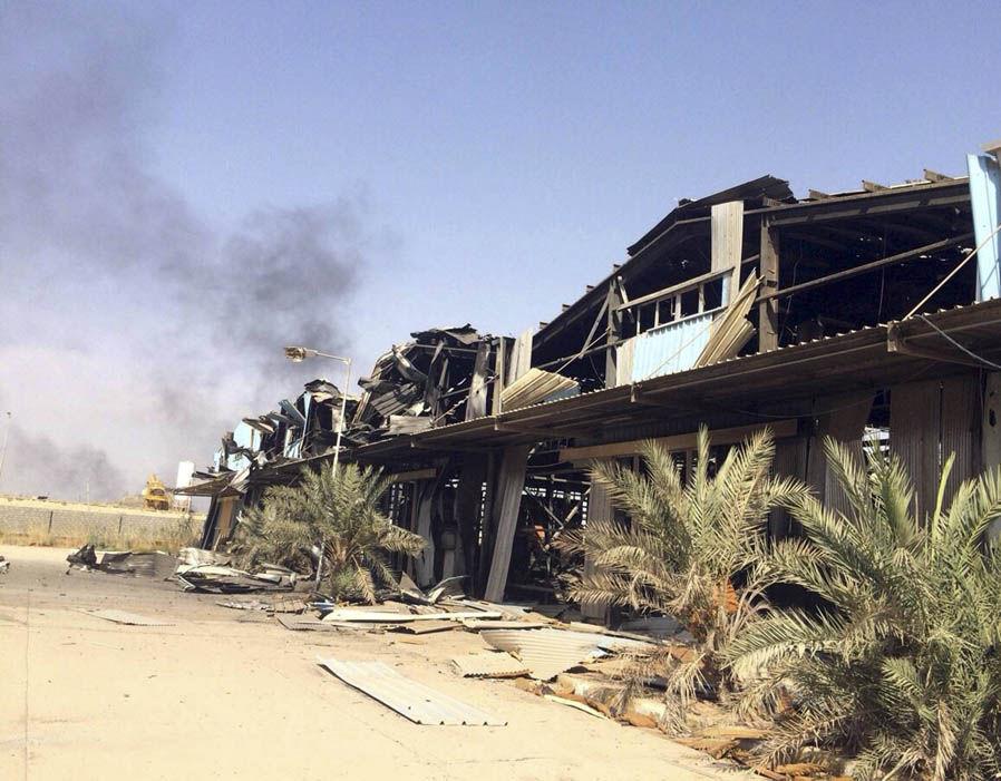 Smoke rises following a U.S led coalition airstrike