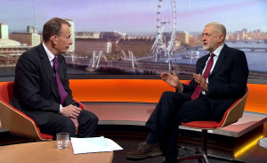 Pic shows: Andrew Marr Show BBC Jeremy Corbyn speaks about his opposition to bombing Syria Picture by Pixel8000 07917221968