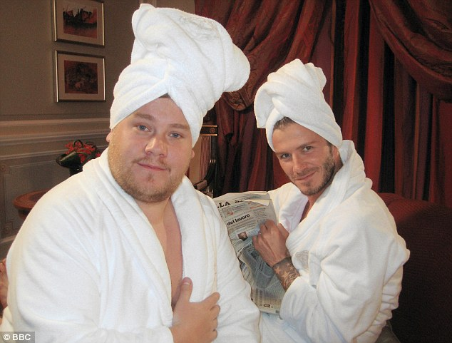 Cosy: Comic James Cordon and footballer David Beckham in a skit for Comic Relief