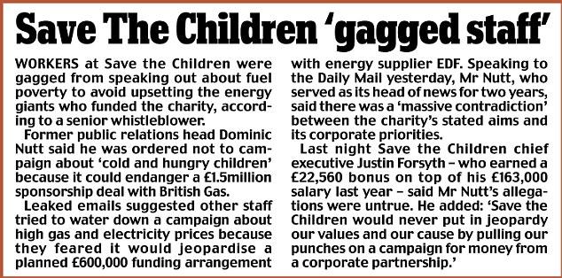 Save The Children gagged staff