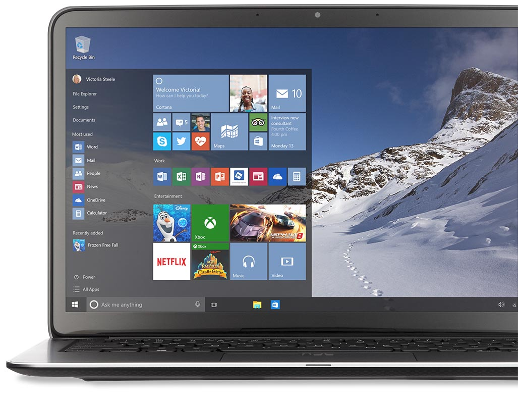 Windows 10 has great potential, but aggressive update and user tracking policies. Image credit: Microsoft