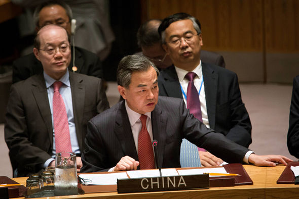Chinese foreign minister Wang