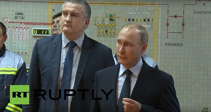 Russia: Putin inaugurates Crimea energy bridge