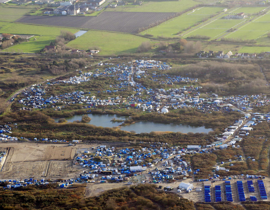 Aerial views over the Jungle Camp